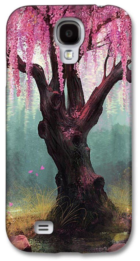 Cherry Blossom Tree Galaxy S4 Case featuring the digital art Ode To Spring by Steve Goad