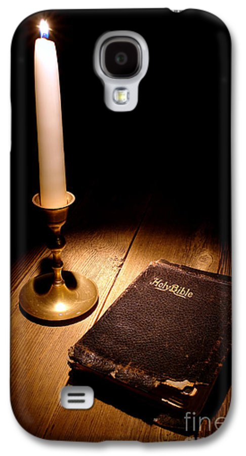 Bible Galaxy S4 Case featuring the photograph Old Bible And Candle by Olivier Le Queinec