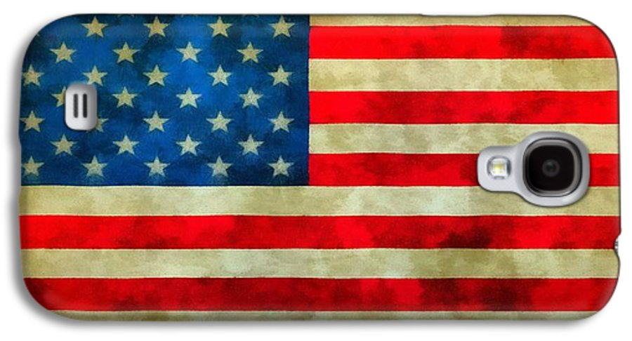 Old Glory Galaxy S4 Case featuring the painting Old Glory by Dan Sproul