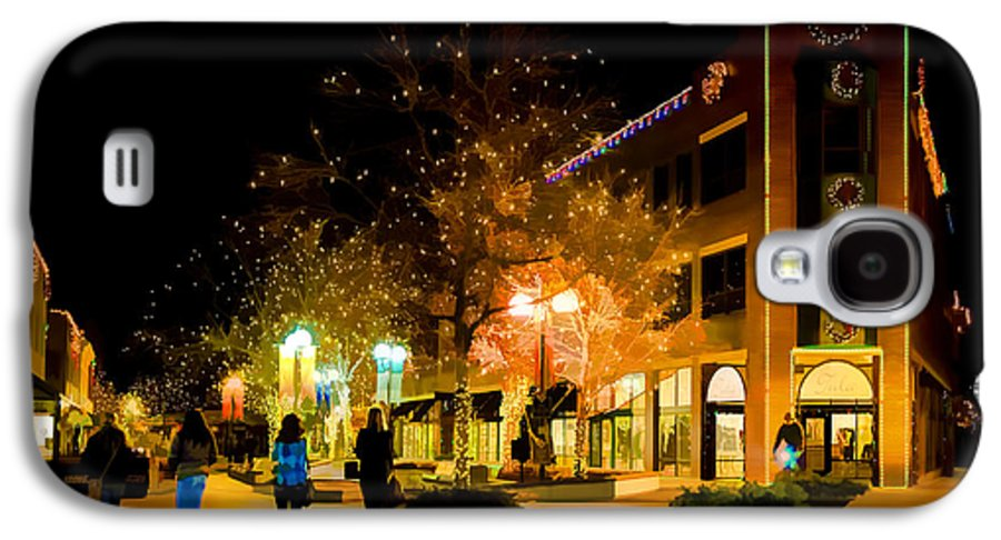 Old Town Galaxy S4 Case featuring the photograph Old Town Christmas by Jon Burch Photography