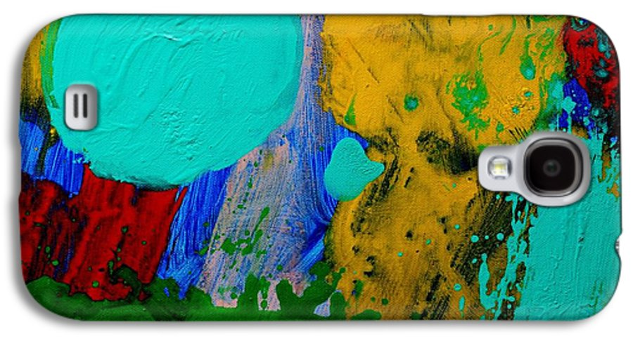 Abstract Galaxy S4 Case featuring the painting Palimpsest IIi by John Nolan