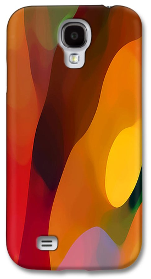 Abstract Art Galaxy S4 Case featuring the painting Paradise Found 3 Tall by Amy Vangsgard