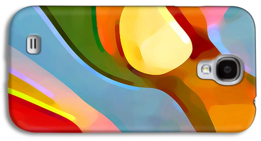 Abstract Art Galaxy S4 Case featuring the painting Paradise Found 4 by Amy Vangsgard