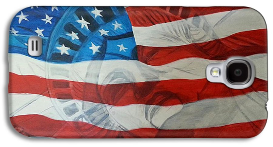 Statue Of Liberty Galaxy S4 Case featuring the painting Patriotic by Michelley Fletcher