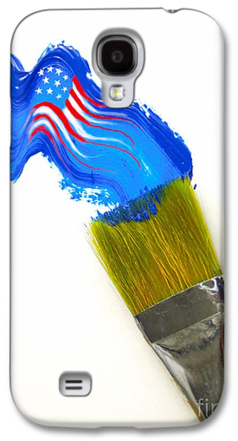 Patriotic Galaxy S4 Case featuring the photograph Patriotic Paint by Diane Diederich