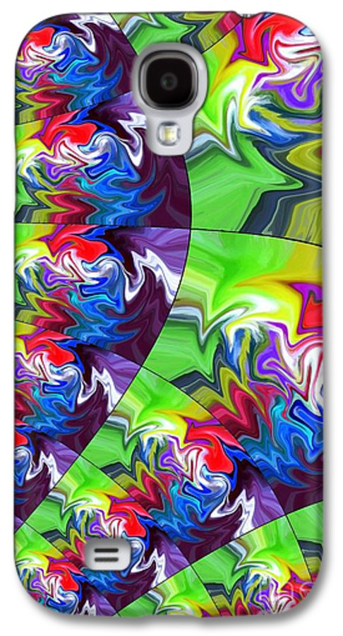 Abstract Galaxy S4 Case featuring the digital art Peacock by Chris Butler