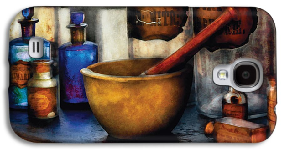 Savad Galaxy S4 Case featuring the photograph Pharmacist - Mortar And Pestle by Mike Savad