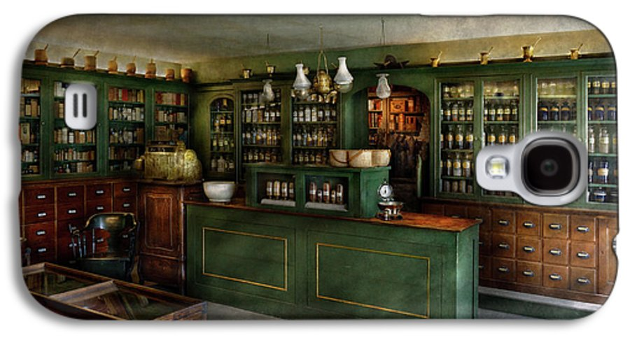 Hdr Galaxy S4 Case featuring the photograph Pharmacy - The Chemist Shop by Mike Savad