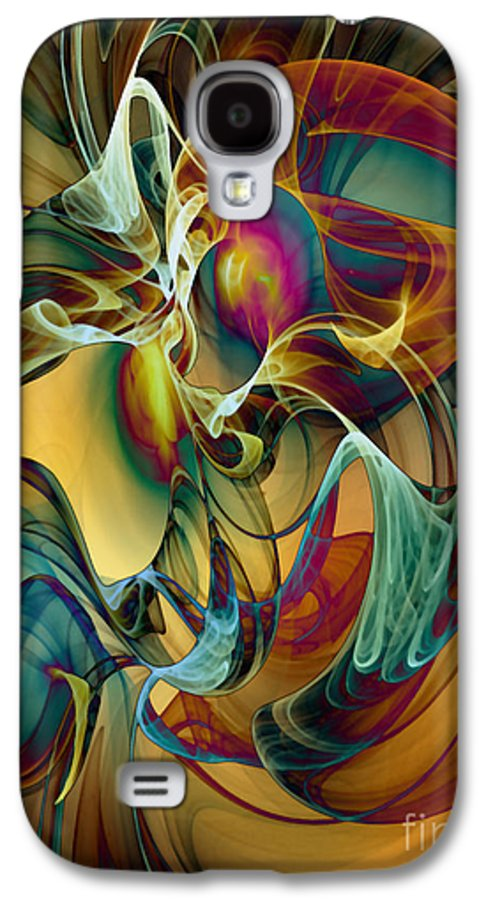 Wind Galaxy S4 Case featuring the digital art Picked Up By The Wind by Klara Acel