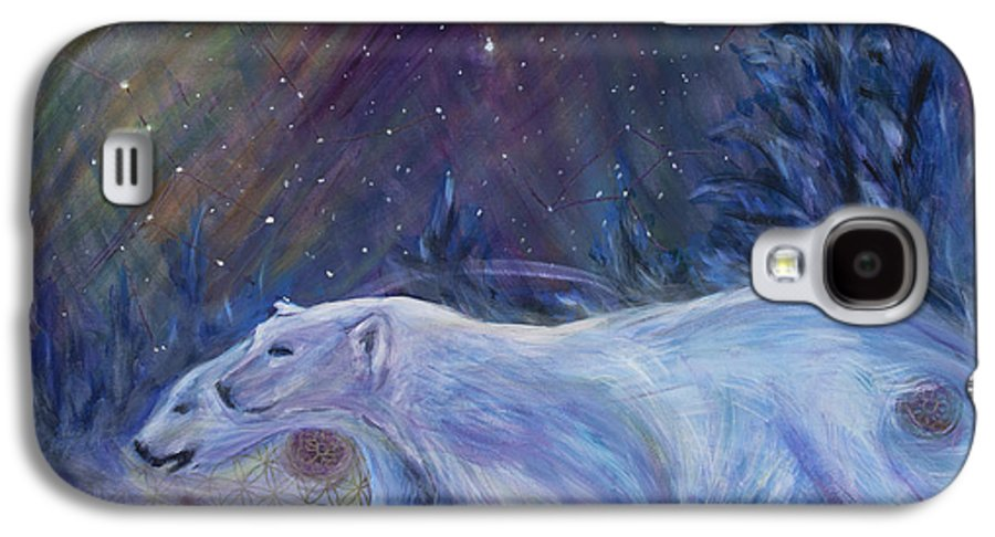 Sacred Geometry Galaxy S4 Case featuring the painting Polaris by Angie Bray-Widner