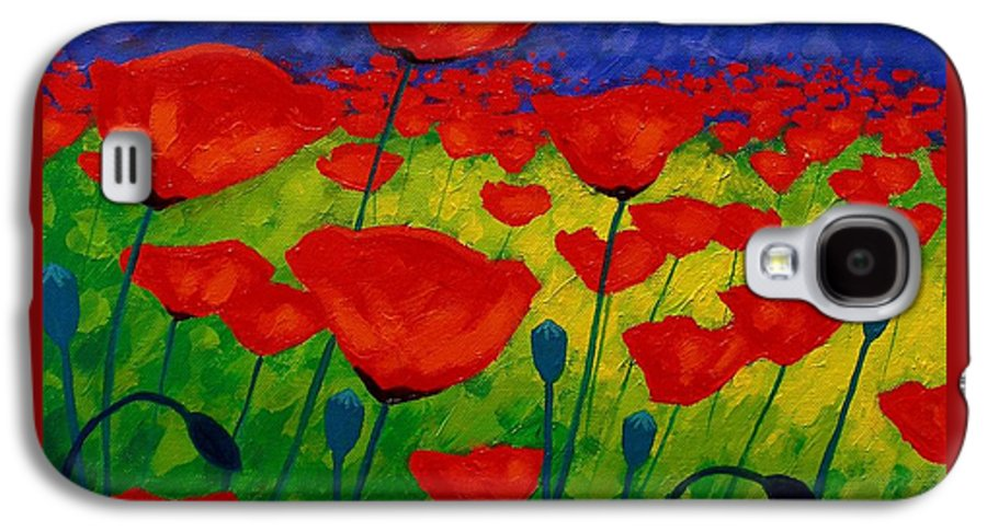 Poppies Galaxy S4 Case featuring the painting Poppy Corner II by John Nolan