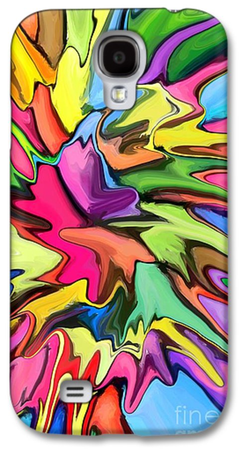 Abstract Galaxy S4 Case featuring the digital art Popsicle by Chris Butler