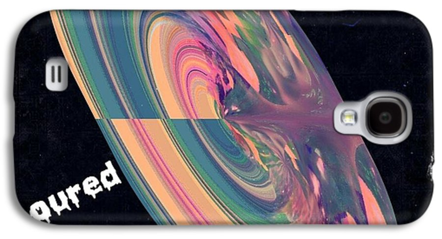 Digital Art Galaxy S4 Case featuring the digital art Poured Paint by Cindy McClung