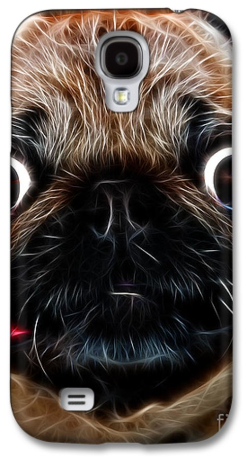 Animal Galaxy S4 Case featuring the photograph Pug Dog - Electric by Wingsdomain Art and Photography