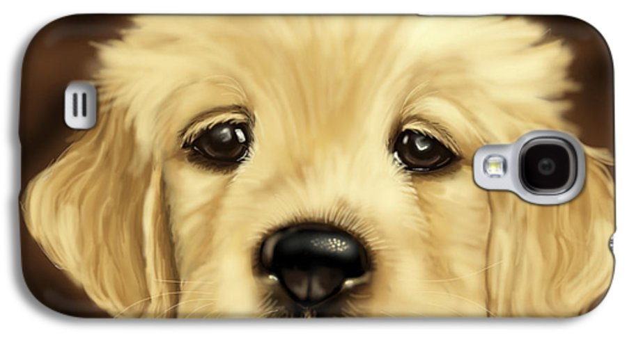 Dog Galaxy S4 Case featuring the painting Puppy by Veronica Minozzi