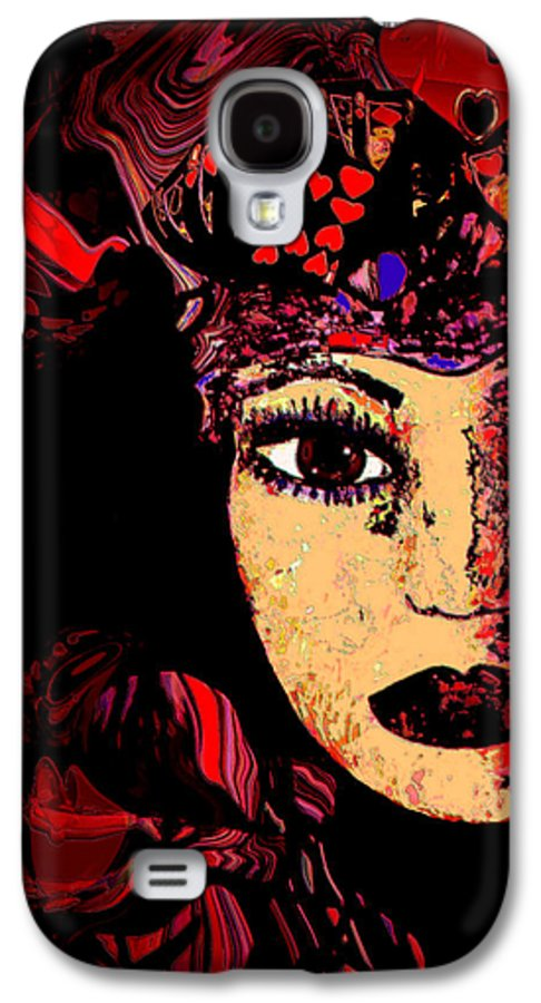 Face Galaxy S4 Case featuring the mixed media Queen Of Hearts by Natalie Holland