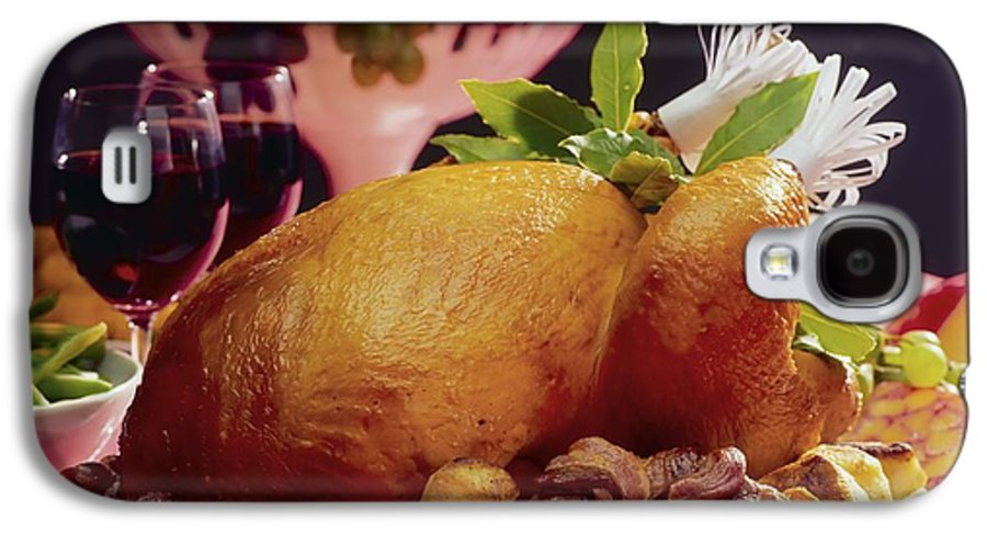 Turkey Galaxy S4 Case featuring the photograph Roast Turkey With Potatoes by The Irish Image Collection