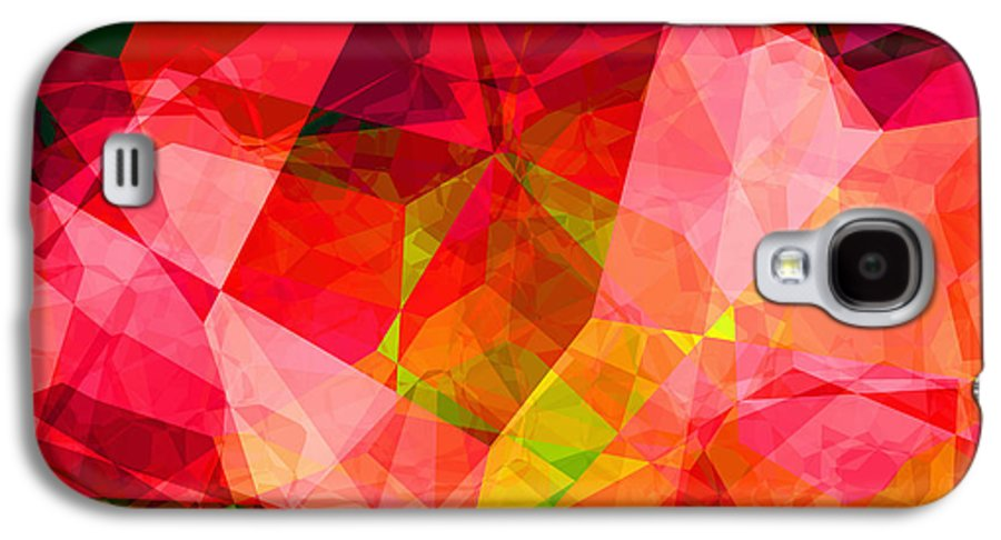 Abstract Galaxy S4 Case featuring the digital art Roses by Wendy J St Christopher