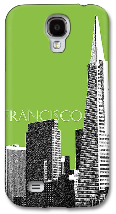 Architecture Galaxy S4 Case featuring the digital art San Francisco Skyline Transamerica Pyramid Building - Olive by DB Artist
