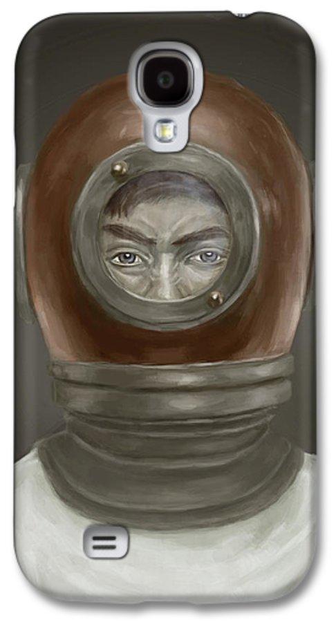 Digital Galaxy S4 Case featuring the digital art Self Portrait by Balazs Solti