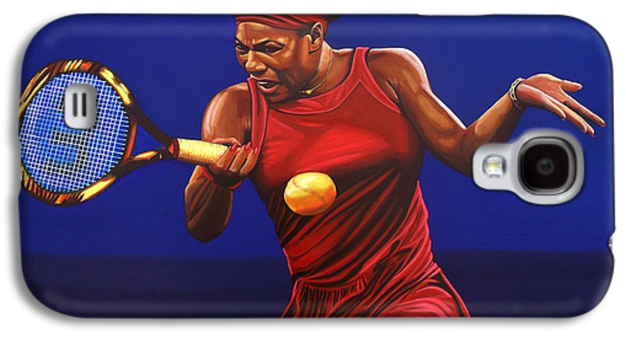 Serena Williams Galaxy S4 Case featuring the painting Serena Williams Painting by Paul Meijering