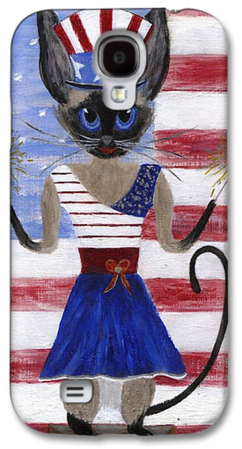Siamese Galaxy S4 Case featuring the painting Siamese Queen Of The U S A by Jamie Frier
