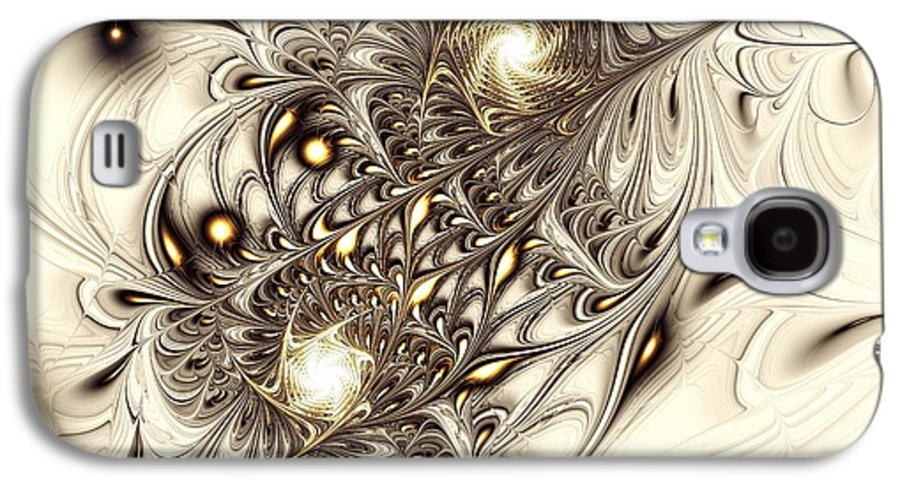 Abstract Galaxy S4 Case featuring the digital art Sparrow by Anastasiya Malakhova
