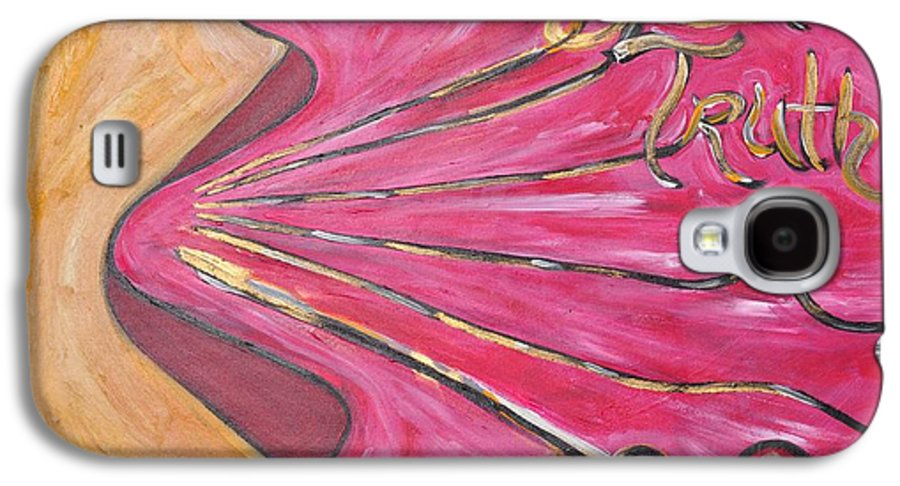 Mouth Of Women Speaking Words Galaxy S4 Case featuring the painting Speak Truth by Kimeko Torres