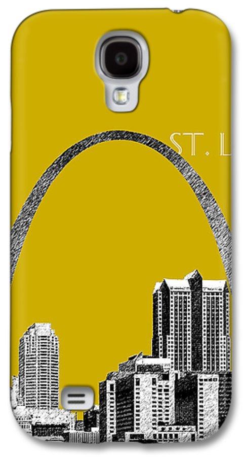 Architecture Galaxy S4 Case featuring the digital art St Louis Skyline Gateway Arch - Gold by DB Artist