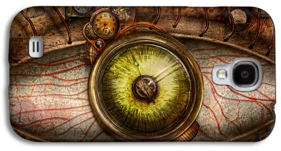 Self Galaxy S4 Case featuring the photograph Steampunk - Creepy - Eye On Technology by Mike Savad