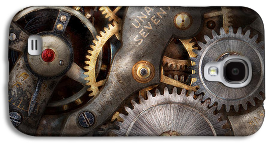 Steampunk Galaxy S4 Case featuring the photograph Steampunk - Gears - Horology by Mike Savad