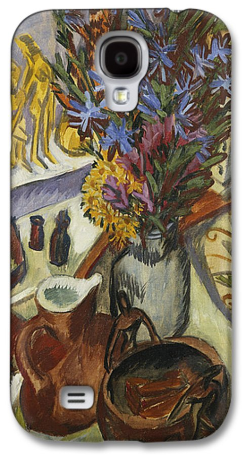 1910s Galaxy S4 Case featuring the painting Still Life With Jug And African Bowl by Ernst Ludwig Kirchner