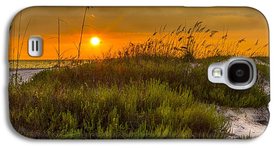 Sun Galaxy S4 Case featuring the photograph Sunset Dunes by Marvin Spates