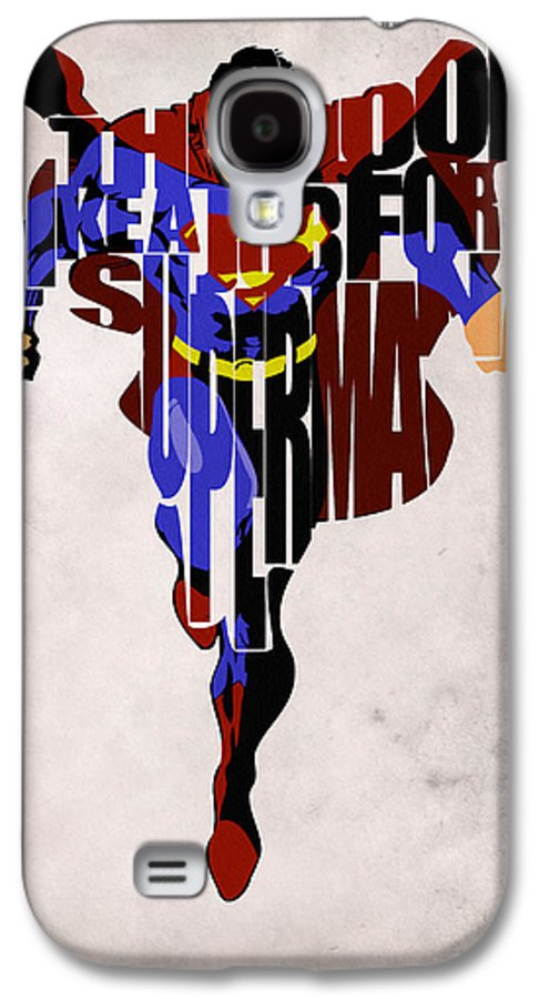 Superman Galaxy S4 Case featuring the drawing Superman - Man Of Steel by Ayse Deniz