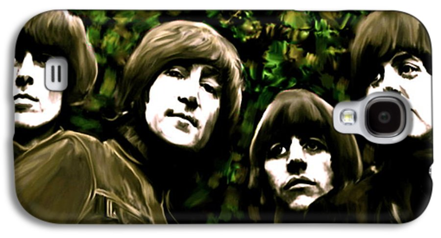 The Beatles Galaxy S4 Case featuring the painting The Art Of Sound The Beatles by Iconic Images Art Gallery David Pucciarelli