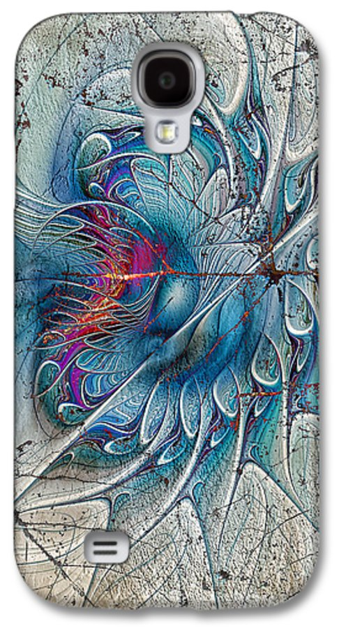 Abstract. Digital Abstract Galaxy S4 Case featuring the digital art The Blue Mirage by Deborah Benoit