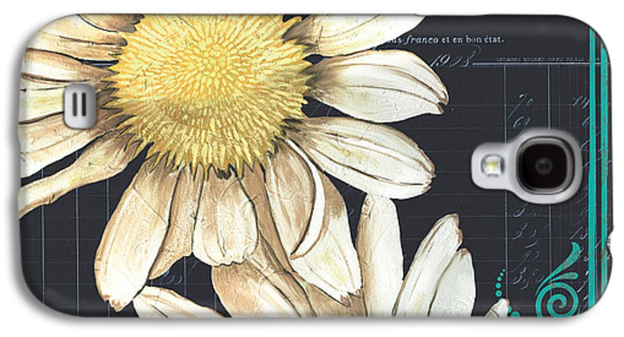 Daisy Galaxy S4 Case featuring the painting Tranquil Daisy 1 by Debbie DeWitt