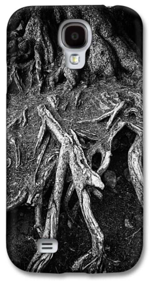 Tree Root Galaxy S4 Case featuring the photograph Tree Roots Black And White by Matthias Hauser