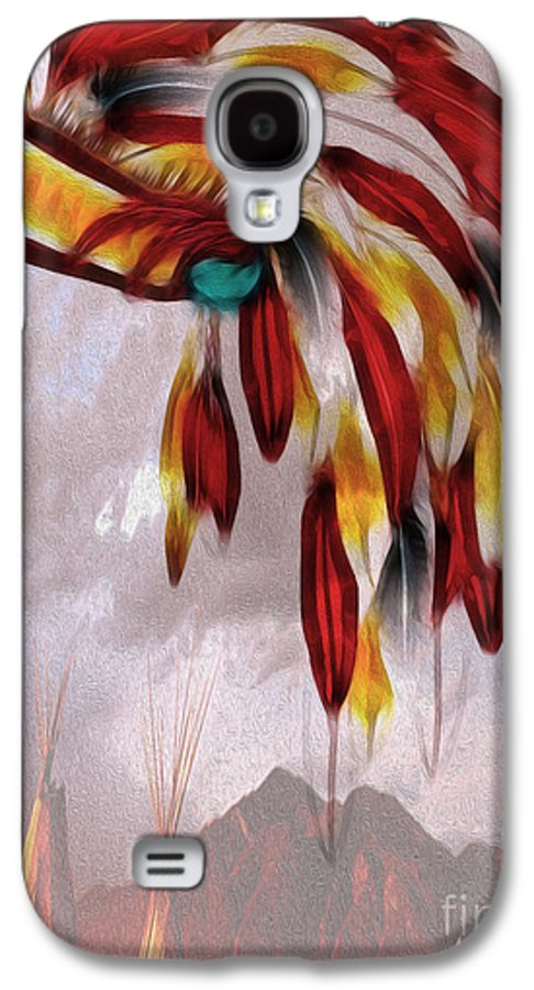 Indians Galaxy S4 Case featuring the photograph Tribal by Cheryl Young