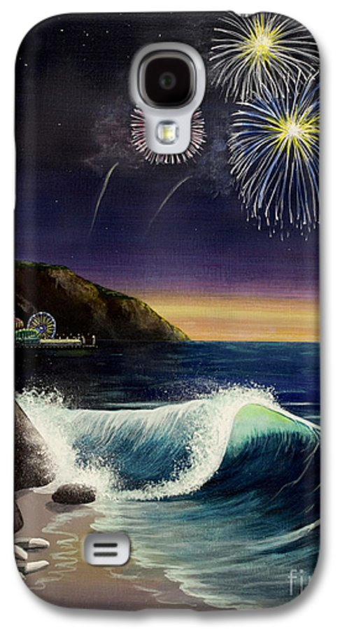 Amusement Pier Galaxy S4 Case featuring the painting Twilight's Last Gleaming by Jack Malloch