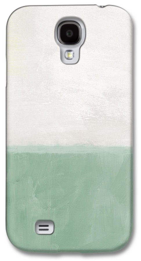 Abstract Landscape Galaxy S4 Case featuring the painting Upon Our Sighs by Linda Woods