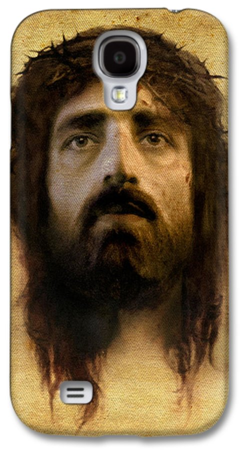 Jesus Galaxy S4 Case featuring the digital art Veronica's Veil by Ray Downing