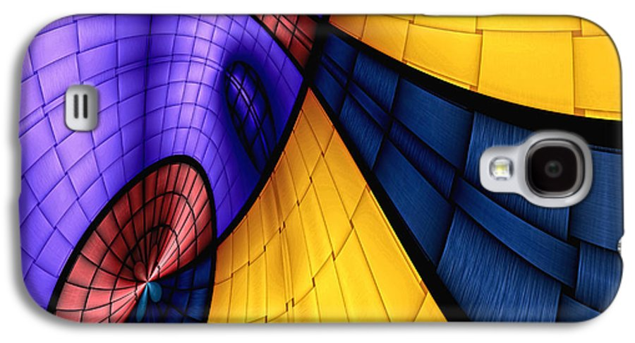 Abstract Galaxy S4 Case featuring the digital art View From The Top 2 by Wendy J St Christopher
