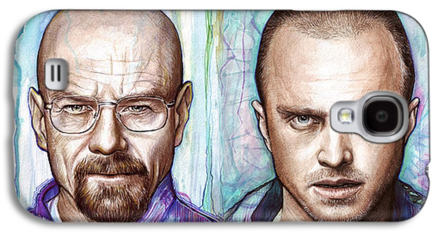 Breaking Bad Galaxy S4 Case featuring the painting Walter And Jesse - Breaking Bad by Olga Shvartsur