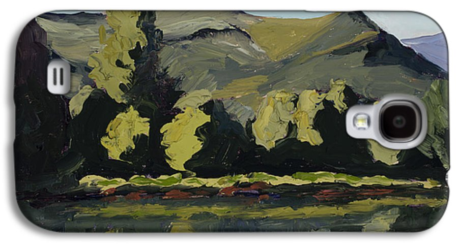 Plein Air Galaxy S4 Case featuring the painting Watson Lake by Mary Giacomini