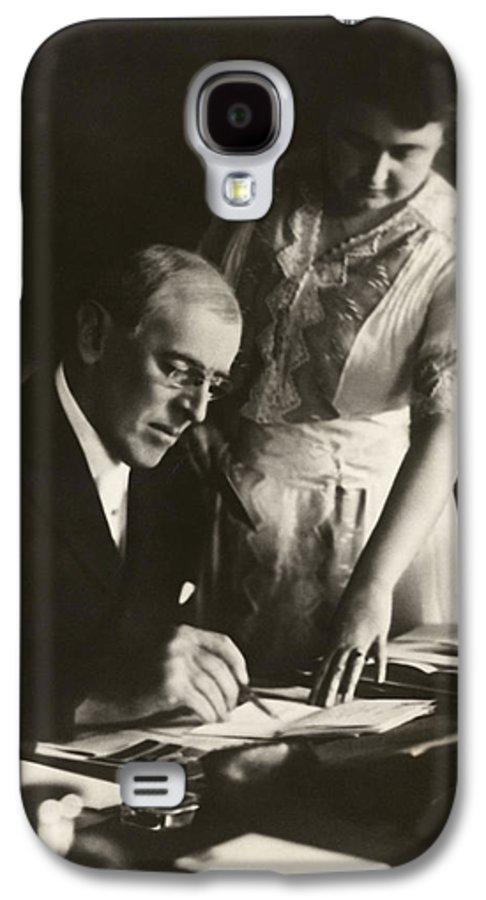Woodrow Wilson Galaxy S4 Case featuring the digital art Woodrow And Edith Wilson by Georgia Fowler