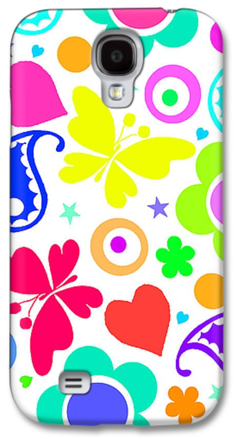 Summer Fun (digital) By Louisa Knight (contemporary Artist) Galaxy S4 Case featuring the painting Summer Fun by Louisa Knight