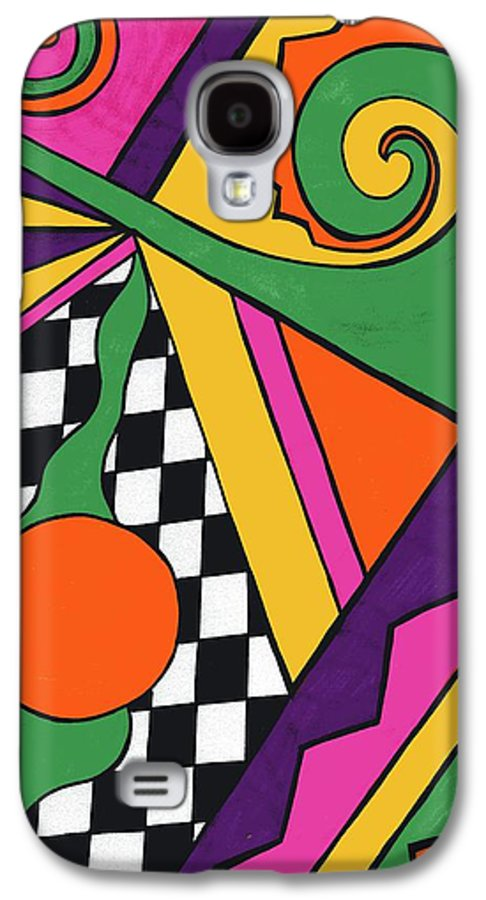80's Glam Galaxy S4 Case featuring the drawing 80's Glam by Mandy Shupp