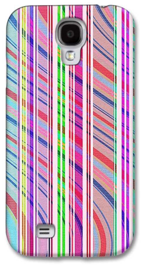 Candy Stripe (digital) By Louisa Knight (contemporary Artist) Galaxy S4 Case featuring the digital art Candy Stripe by Louisa Knight