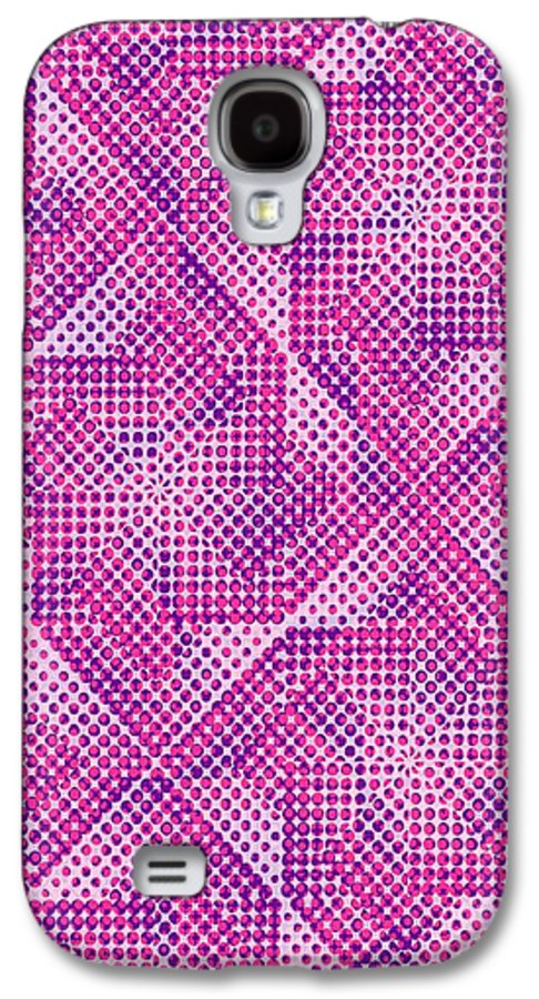 Dot Galaxy S4 Case featuring the digital art Dotty by Louisa Knight